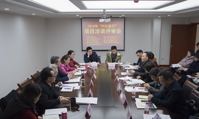 """重庆慈善总会召开2018年""""99公益日""""项目洽谈评审会"""