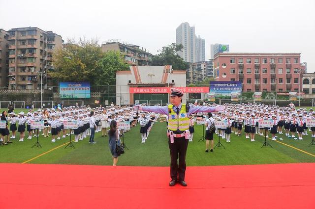 江北小交警2018主题实践活动启动 示范学校增至16所