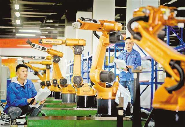 永川:广数工业机器人制造项目二期明年投产