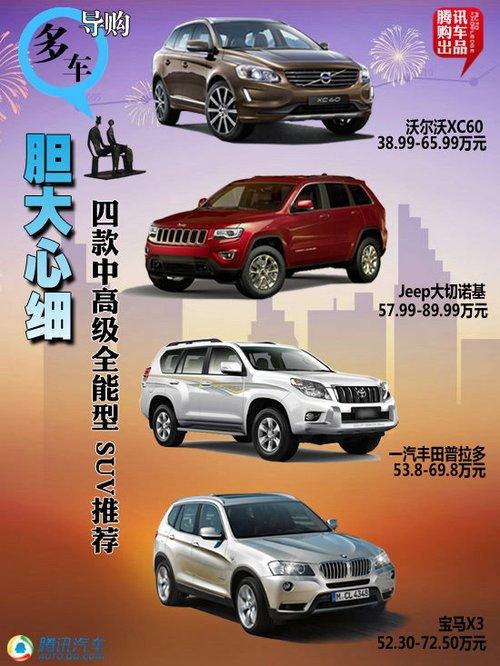 四款中高级全能型SUV推荐 胆大心细