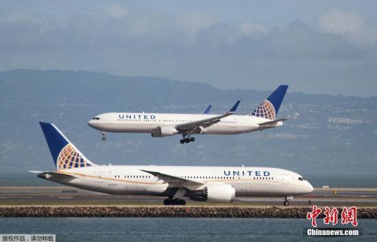 资料图片:美联航。