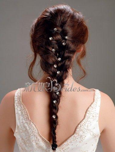 点评李小璐的新娘发型图片