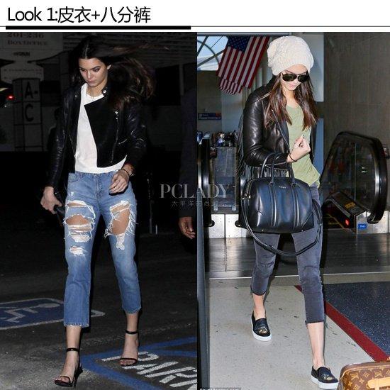 黑皮上衣- 【其他明星的黑皮衣搭配】  看到肯达尔·詹娜 (Kendall Jenner),