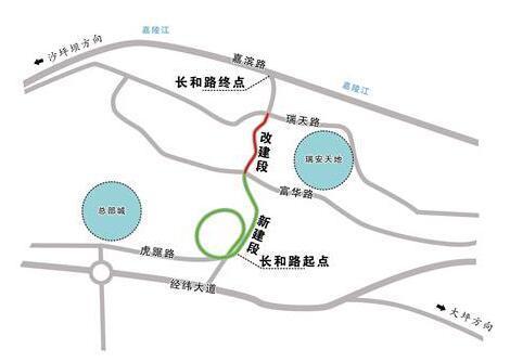 渝中区长和路今日将通车 大坪到化龙桥仅需5分钟