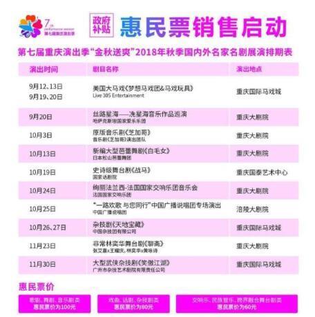 第七届重庆演出季启幕 全年精彩剧目低价看