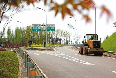 渝北:重庆机场专用快速路建设稳步推进