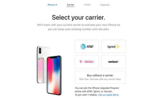 iPhoneX裸机销售开始 用户可自主选运营商