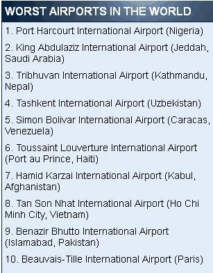 盘点:全球最糟糕的机场大厅