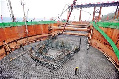 白居寺长江大桥桥塔基础工程今日完成