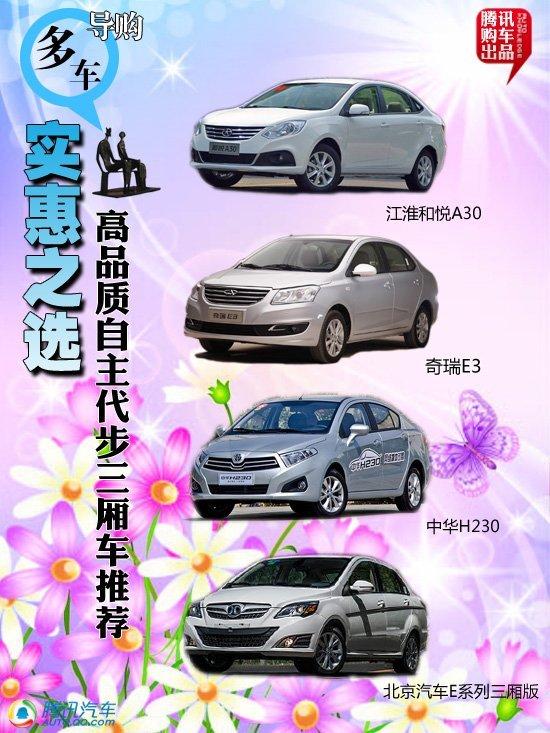 四款高品质自主代步三厢车推荐 实惠之选