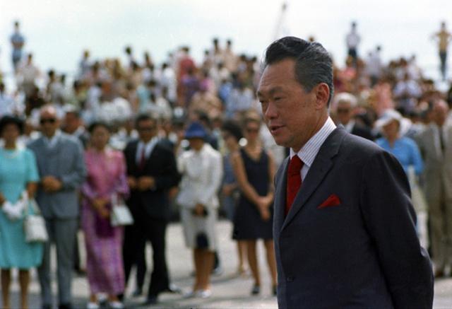 1972年的李光耀。正是从那一年起,他在中国报纸上的形象逐渐正面了起来。