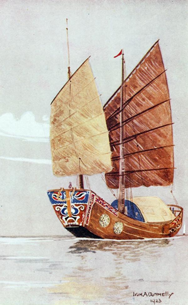 木质帆船结构图
