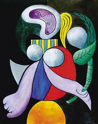 毕加索为吉洛特画的《女人——花》