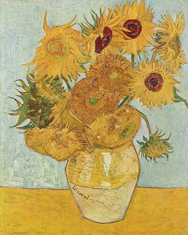 梵高《向日葵》(1888)