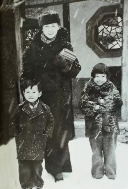 林徽因和女儿梁再冰,儿子梁从诫图片