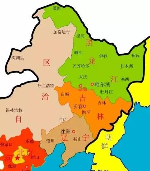 中国政区简图手绘