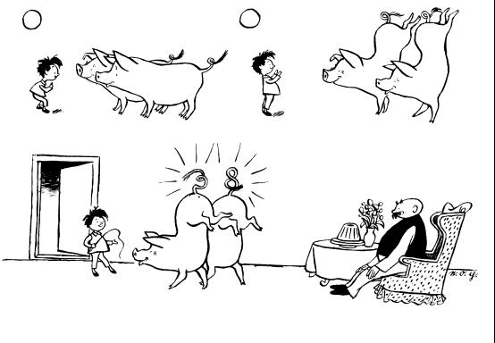 有关读书的手绘卡通画