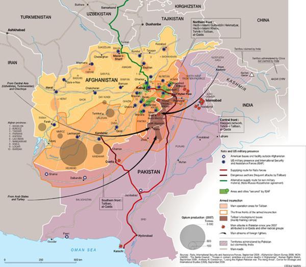 中东石油与天然气分布示意图图片