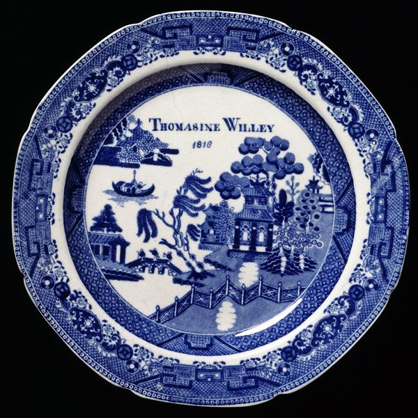 Hand Painted Blue Willow Pattern