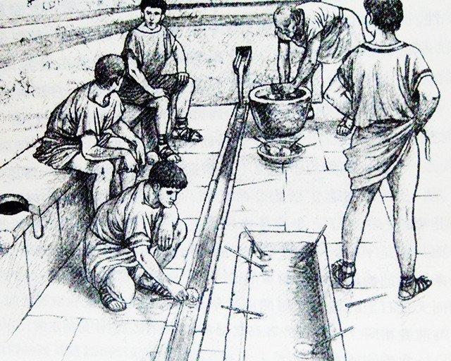 古罗马厕所内景