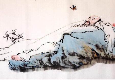 白发苍颜图片-刘小川 庄子失业编草鞋,妻子宣称要绝食