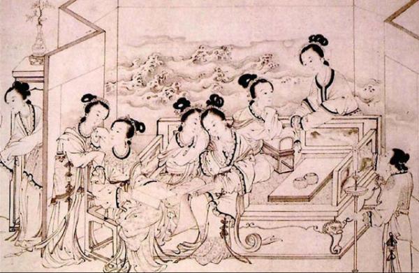 手绘古人祭祀活动