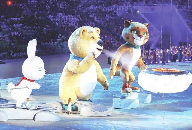资料图:索契冬奥会闭幕式