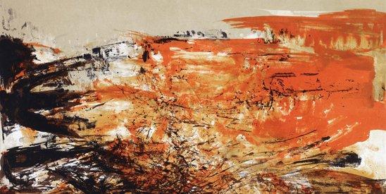 对于抽象绘画,东方会出现看懂、看不懂的问题,但是西方不会。图为赵无极油画作品