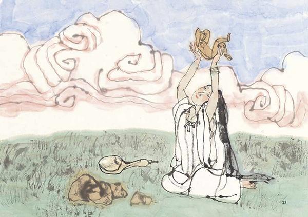 中华创世神话创作 韩硕谈连环画绘本《女娲造人》