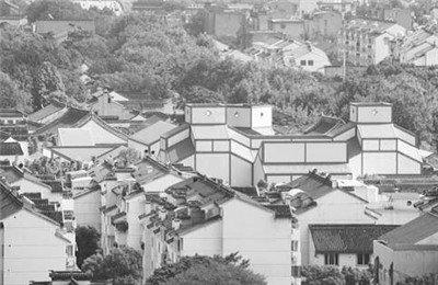 著名建筑师贝聿铭设计的苏州博物馆。(林青松摄)