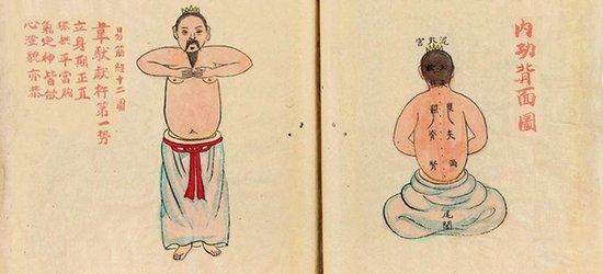"""""""武林第一绝学""""《易筋经》其实是本按摩教程图片"""