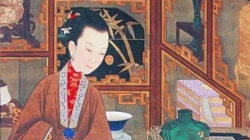 12位身着汉服的宫苑女子品茶、观书、沉吟、赏蝶等清娱情景