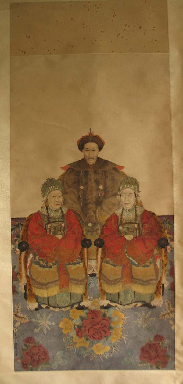 陈半丁临《吴昌硕先考妣像》(1906)吴昌硕后人藏