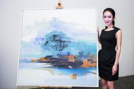 画家Stephanie Zen曾子涵画展广东美术馆隆重开幕