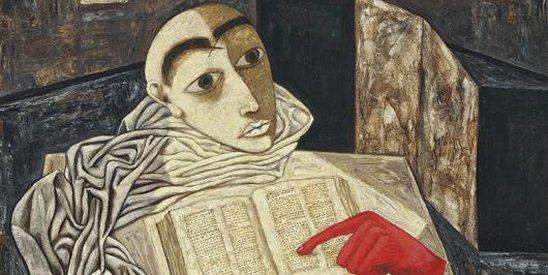诗人是否可以有特权做出格的事最近为网友热议。图为张晓刚油画作品《手记1号-1999页如是说》