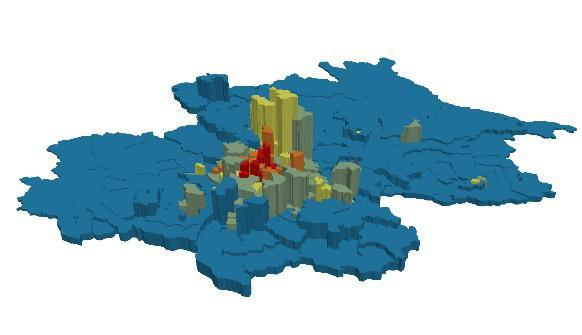 杭州市人口密度_人口密度热力地图显示 青岛人口分布严重不均衡