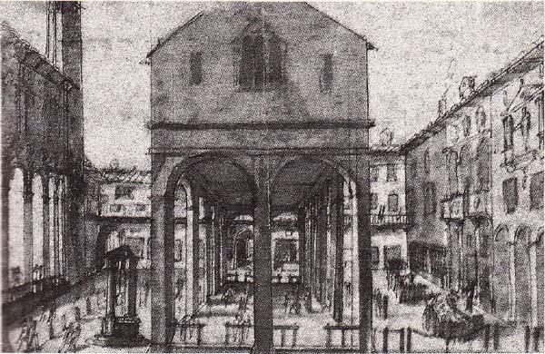 米兰大教堂手绘素描