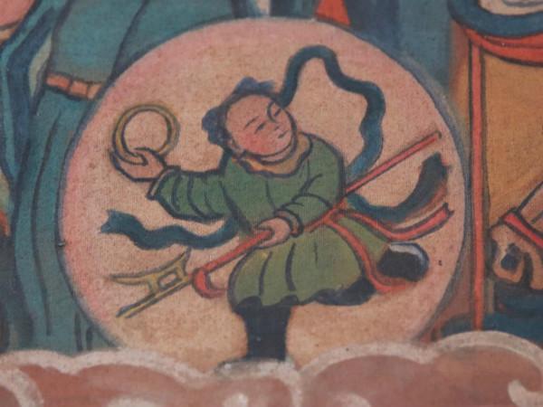 闽西神像画中的哪吒图片