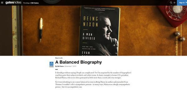 每年读50本纸书,比尔 盖茨的读书笔记写了些啥图片