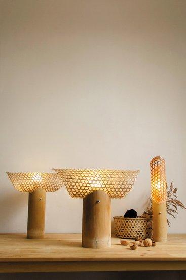 """此项设计获得""""台湾国际学生创意设计大赛入选奖"""". 竹生活系列灯具图片"""