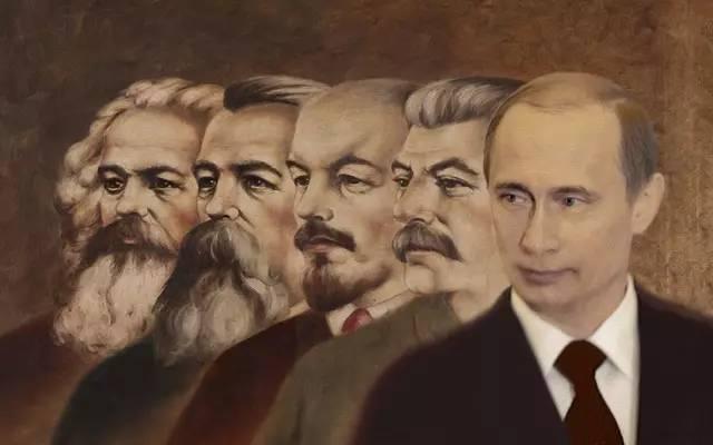 斯大林(中)与 前南斯拉夫领导人铁托(左),图片源于网络.图片