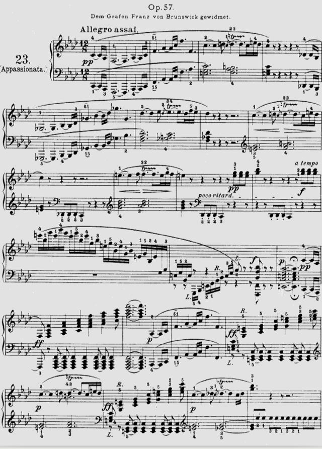 贝多芬《热情》奏鸣曲乐谱-建筑师贝多芬与音乐家赖特