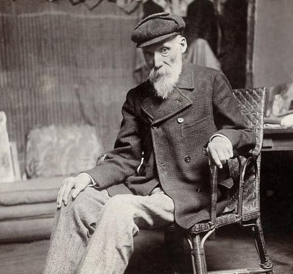 100年前的那一刻,莫奈在睡莲池边叼着烟画画