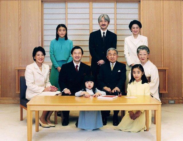 资料图:日本皇室合影