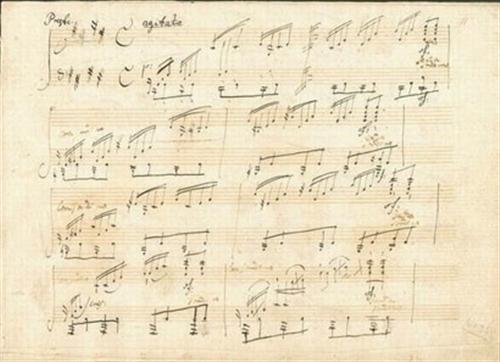 贝多芬《月光奏鸣曲》手稿.