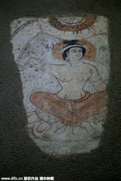 千年前裸体壁画保留欧亚古风