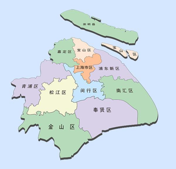 上海行政地图