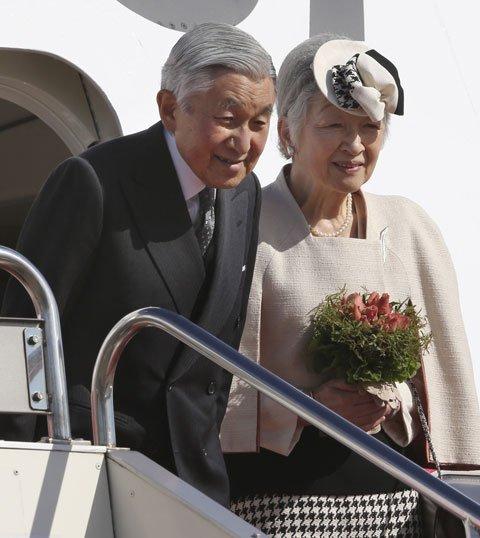 资料图:日本天皇访问印度