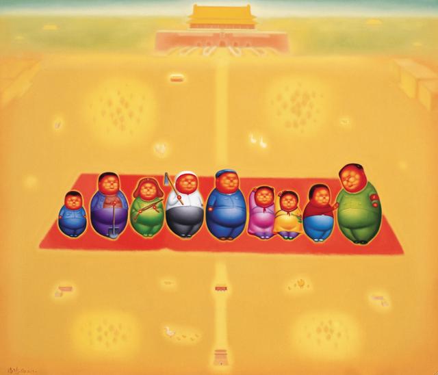 喻红在文革中美术启蒙:童年绘画全是斗地主
