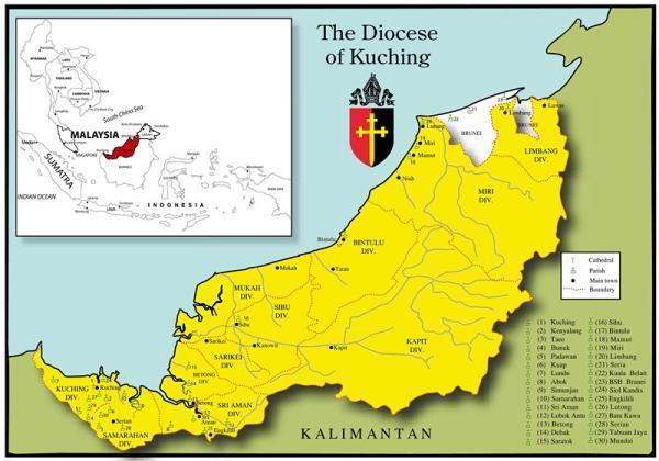 文莱本来是婆罗洲(加里曼丹岛)北部一个强大的伊斯兰教苏丹国,在明朝图片
